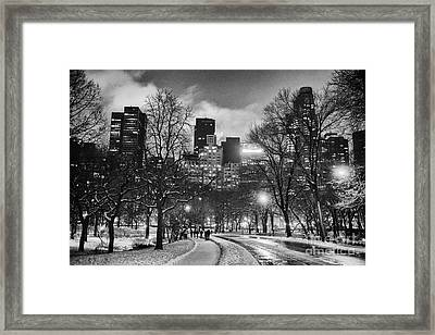 Central Park View Framed Print by John Farnan