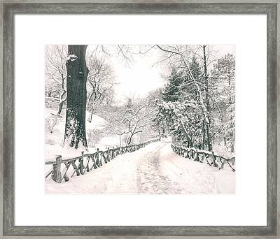 Central Park Winter Landscape Framed Print