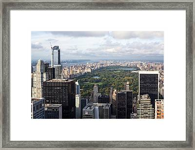 Central Park Framed Print by Wolfgang Woerndl