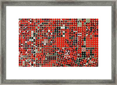 Central-pivot Irrigation Framed Print by European Space Agency/copernicus Sentinel Data (2015)
