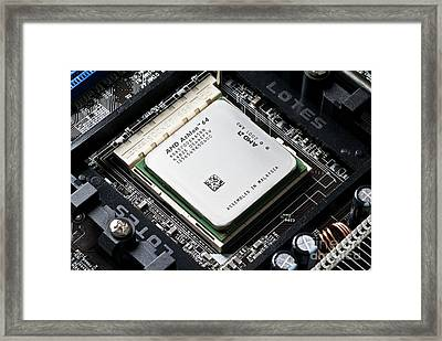 Central Processing Unit Framed Print by Martyn F. Chillmaid