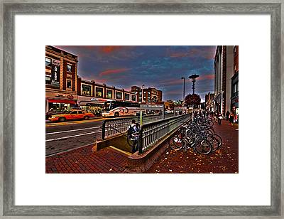 Central Square Cambridge Ma Framed Print by Toby McGuire