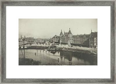 Central Station As Seen From The St. Nicholas Church Framed Print
