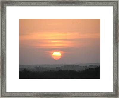 Framed Print featuring the photograph Central Texas Sunrise by John Glass