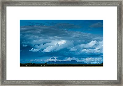 Central Valley Clouds Framed Print