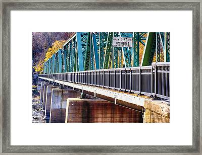 Centre Bridge Stockton Perspective Framed Print by George Oze