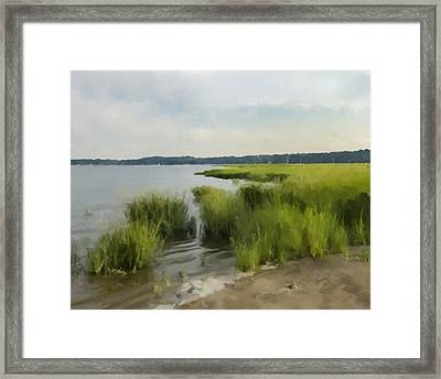 Centre Island Beach Framed Print by Anthony Stiso