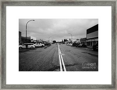 centre street main st assiniboia Saskatchewan Canada Framed Print