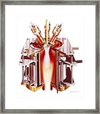 Centrifugal Plasma Furnace Framed Print