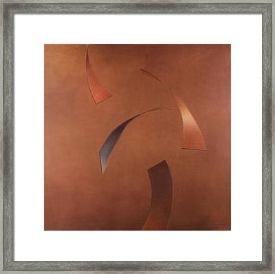 Centrifuge, 2010 Acrylic On Canvas Framed Print by Lincoln Seligman