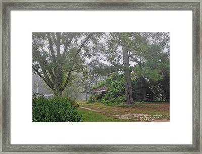Century-old Shed In The Fog - South Carolina Framed Print by David Perry Lawrence