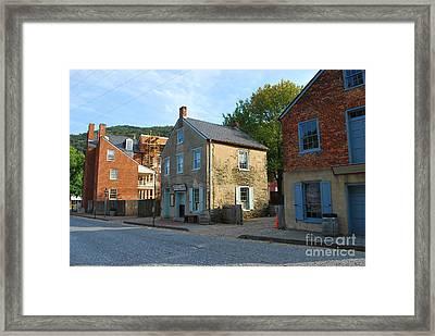 Century Olde Buildings In Harpers Ferry Framed Print