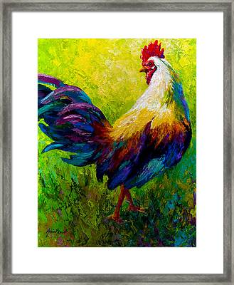 Ceo Of The Ranch - Rooster Framed Print by Marion Rose