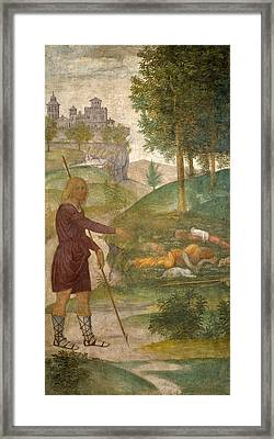 Cephalus And The Nymphs Framed Print