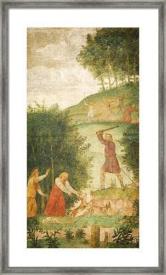 Cephalus Punished At The Hunt Framed Print by Celestial Images