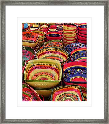 Ceramic Bowls Framed Print by Anthony Dalton