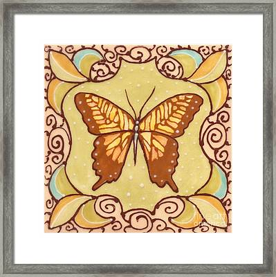 Ceramic Butterfly Framed Print