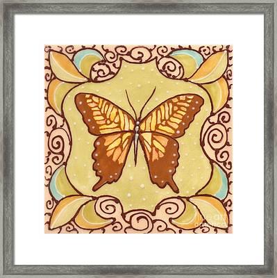 Ceramic Butterfly Framed Print