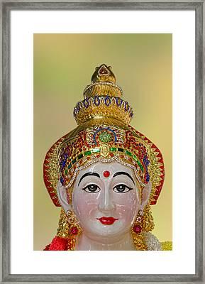 Ceramic Face Framed Print