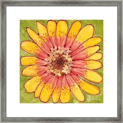 Ceramic Flower 1 Framed Print