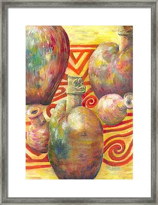 Ceramic Images Framed Print