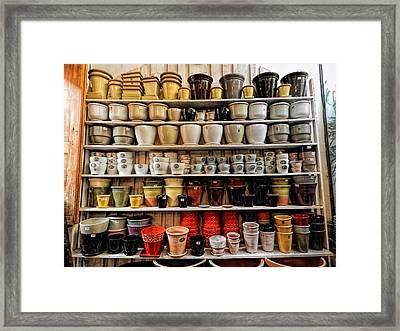 Ceramic Pots For Sale Framed Print