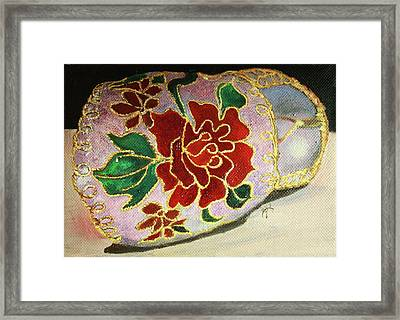 Framed Print featuring the painting Ceramic Shoe by Jane Autry
