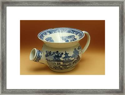 Ceramic Spittoon Framed Print by Science Photo Library