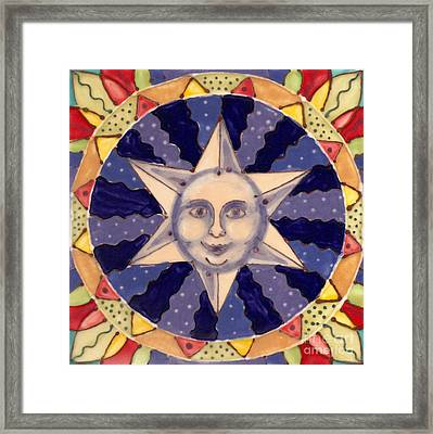 Ceramic Star Framed Print