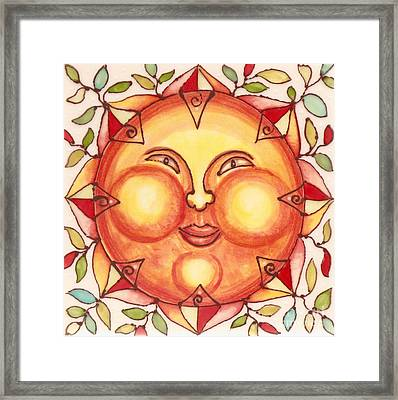 Ceramic Sun 2 Framed Print