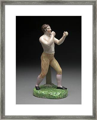 Ceramic, The Boxer Tom Cribb In Canary Breeches Framed Print by Litz Collection