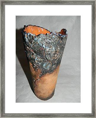 Ceramic Vase - Castle Garden Framed Print by Keramik Sonnenscheindesign