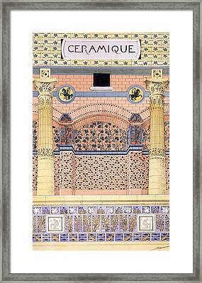 Ceramics Designs For Tiled Wall Framed Print