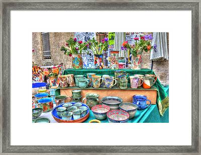 Ceramics Stall Framed Print