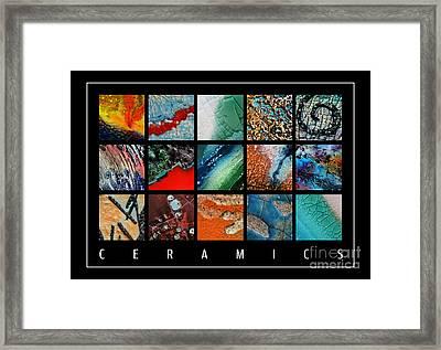 Ceramics Framed Print by Urilla Art