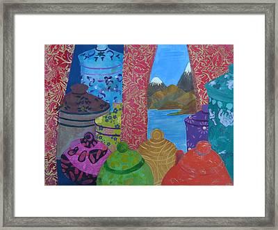 Ceramics View 2 Framed Print by Karen Coggeshall