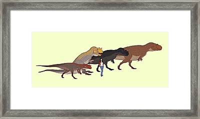 Ceratosaurus Size Comparison Framed Print by Nemo Ramjet