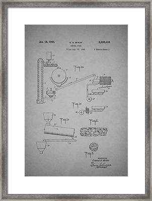 Cereal Food Machine Patent 1944 Framed Print by Mountain Dreams