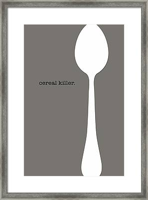 Framed Print featuring the digital art Cereal Killer by Nancy Ingersoll