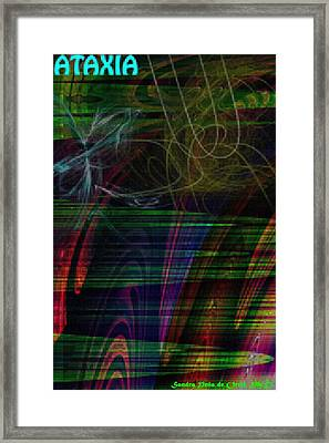 Cerebellar Ataxia Art 3 Framed Print by Sandra Pena de Ortiz