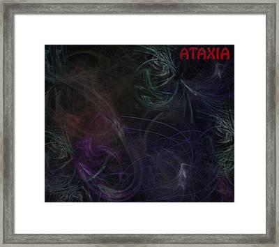 Cerebellar Ataxia Art I Framed Print by Sandra Pena de Ortiz