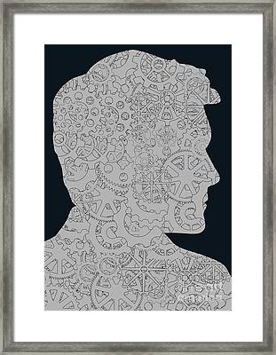 Cerebral Activity In Man Framed Print