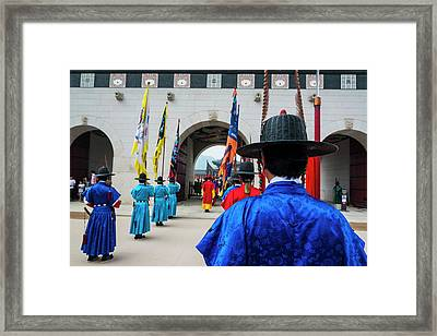 Ceremonial Changing Of The Guard Framed Print by Michael Runkel