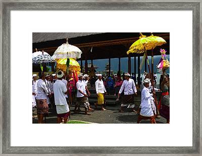 Ceremony At Lake Beratan Bali Framed Print