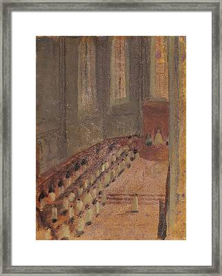 Ceremony Of Ordination At Lyon Cathedral Framed Print by Edgar Degas