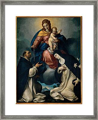 Ceresa Carlo, Our Lady Of The Rosary Framed Print by Everett