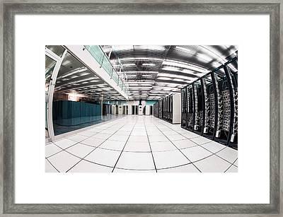 Cern Computer Centre Framed Print