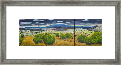 Framed Print featuring the painting Cerrillos Spring by John Hansen