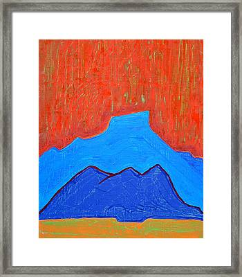 Cerro Pedernal Original Painting Sold Framed Print by Sol Luckman