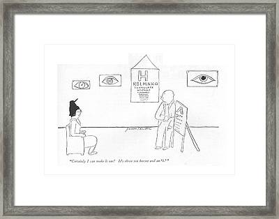 Certainly I Can Make It Out! It's Three Sea Framed Print by James Thurber